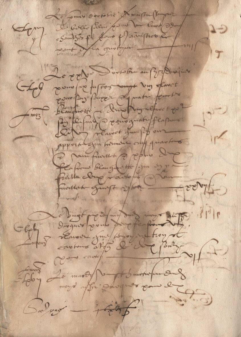 Document d'archive daté de 1544 attestant de l'authenticité de la Blanquette